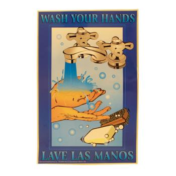 38575 - Commercial - Wash Your Hands Food Safety Poster Product Image