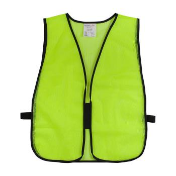 PIN3000800LY - PIP - 300-0800-LY - Yellow Mesh Safety Vest Non-ANSI Product Image