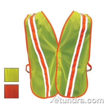PIN3000900OR - PIP - 300-0900OR - Orange Mesh Safety Vest Non-ANSI w/ Reflective Tape Product Image