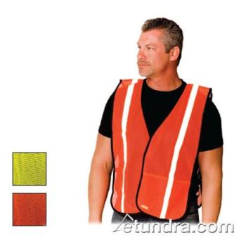 PIN300EVORELY - PIP - 300-EVOR-ELY - Yellow Mesh Safety Vest Non-ANSI w/ Silver Reflective Tape Product Image