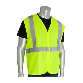 PIN302WCENGLY2X - PIP - 302-WCENGLY-2X - Yellow Solid Safety Vest (XXL) Product Image