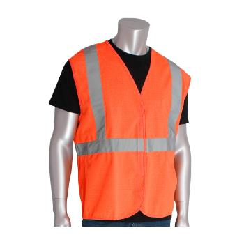 PIN302WCENGORL - PIP - 302-WCENGOR-L - Orange Solid Safety Vest (L) Product Image