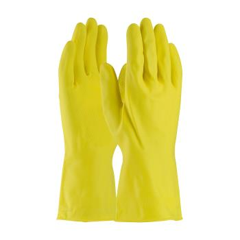 "PIN47L170YS - PIP - 47-L170Y/S - 12"" Yellow Industrial Latex Gloves (S) Product Image"