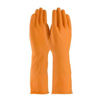"PIN47L210TM - PIP - 47-L210T/M - 15"" Orange Latex Gloves (M) Product Image"