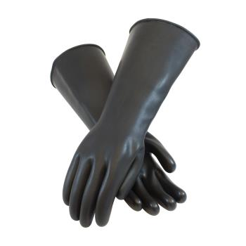"PIN47L442XL - PIP - 47-L442/XL - 17"" Black Latex Gloves (XL) Product Image"