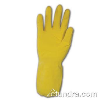 "PIN48L160YS - PIP - 48-L160Y/S - 12"" Lined 16 mil Yellow Latex Gloves w/ Grip (S) Product Image"