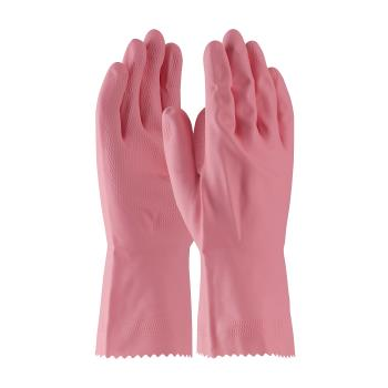 PIN48L185PM - PIP - 48-L185P/M - Lined Pink Latex Gloves w/ Grip (M) Product Image