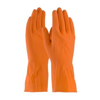 PIN48L185TM - PIP - 48-L185T/M - Lined Orange Latex Gloves w/ Grip (M) Product Image