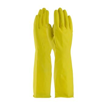 "PIN48L2125YXXL - PIP - 48-L2125Y/XXL - 15"" Lined Yellow Latex Gloves w/ Grip (2XL) Product Image"