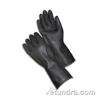 "PIN48L300KL - PIP - 48-L300K/L - 13"" Lined Black Latex Gloves w/ Grip (L) Product Image"