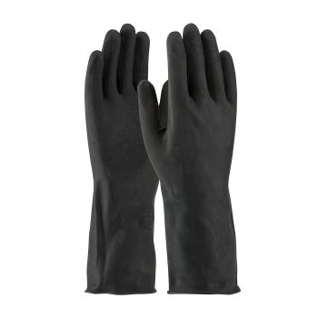 "PIN48L300KXXL - PIP - 48-L300K/XXL - 13"" Lined Black Latex Gloves w/ Grip (2XL) Product Image"