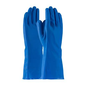 "PIN50N140BS - PIP - 50-N140B/S - 13"" Blue 14 mil Nitrile Gloves w/ Grip (S) Product Image"