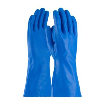 "PIN50N160BS - PIP - 50-N160B/S - 13"" Blue 16 mil Nitrile Gloves w/ Grip (S) Product Image"