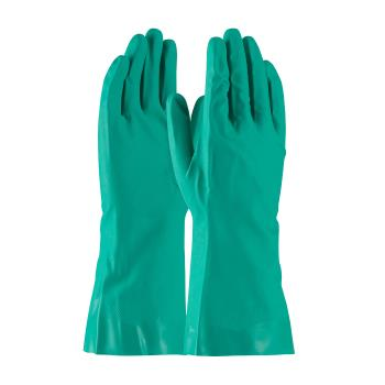 "PIN50N160GM - PIP - 50-N160G/M - 13"" Green 16 mil Nitrile Gloves w/ Grip (M) Product Image"
