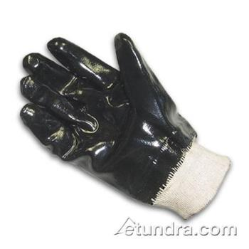 PIN578615 - PIP - 57-8615 - Lined Black Neoprene Coated Gloves w/ Knit Wrist (L) Product Image