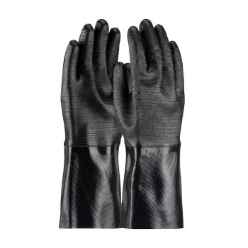 "PIN578640R - PIP - 57-8640R - 14"" Lined Black Neoprene Coated Gloves w/ Grip (L) Product Image"