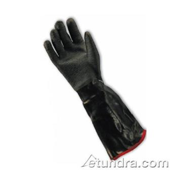 "PIN578653RM - PIP - 57-8653R/M - 18"" Insulated Black Neoprene Coated Gloves w/ Grip (M) Product Image"