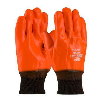PIN587303 - PIP - 58-7303 - ProCoat Orange PVC Coated Gloves w/Knit Wrist (L) Product Image