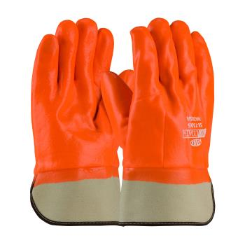 PIN587305 - PIP - 58-7305 - ProCoat Orange PVC Coated Gloves w/ Safety Cuff Product Image