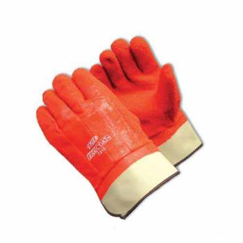 PIN587315 - PIP - 58-7315 - ProCoat Orange PVC Coated Gloves w/ Safety Cuff And Grip (L) Product Image
