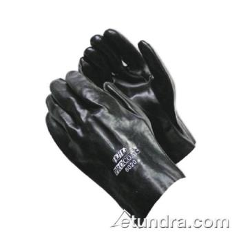"PIN588020 - PIP - 58-8020 - 10"" Lined Black PVC Coated Gloves (L) Product Image"