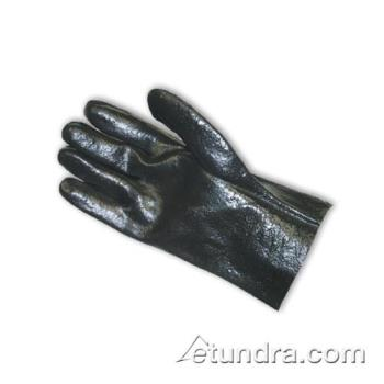 "PIN588020R - PIP - 58-8020R - 10"" Lined Black PVC Coated Gloves w/ Grip (L) Product Image"