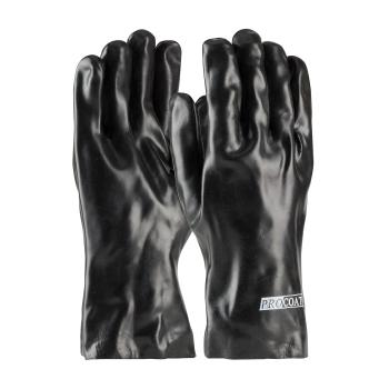 "PIN588030 - PIP - 58-8030 - 12"" Lined Black PVC Coated Gloves (L) Product Image"