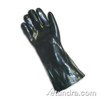 "PIN588040 - PIP - 58-8040 - 14"" Lined Black PVC Coated Gloves (L) Product Image"