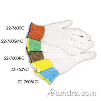 PIN22760RCM - PIP - 22-760RC/M - Kut-Gard 10 ga White Cut Resistant Glove w/ Red Cuff (M) Product Image