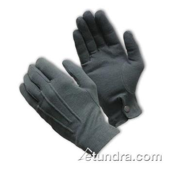PIN130150GM - PIP - 130-150GM - Gray Cotton Dress Gloves w/ Wrist Snap (L) Product Image