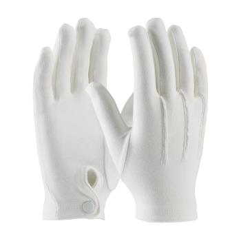 PIN130150WMS - PIP - 130-150WM/S - White Cotton Dress Gloves w/ Wrist Snap (S) Product Image