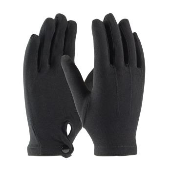 PIN130650BM - PIP - 130-650BM - Men's Black Stretch Nylon Dress Gloves w/ Wrist Snap (L) Product Image