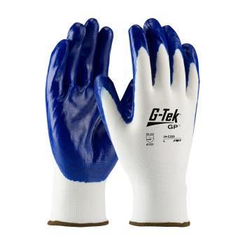 PIN34C229XL - PIP - 34-C229/XL - G-Tek Blue Nitrile Coated Gloves (XL) Product Image