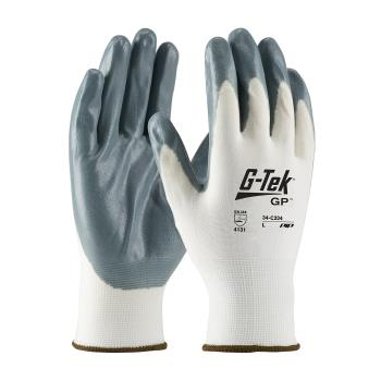 PIN34C234S - PIP - 34-C234/S - G-Tek Gray Foam Nitrile Coated Gloves (S) Product Image