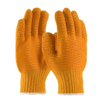 PIN393013L - PIP - 39-3013/L - Orange Polyester Gloves w/ Criss Cross PVC Coating (L) Product Image