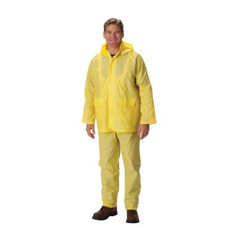 PIN201250X5 - PIP - 201-250X5 - Yellow PVC Rainsuit w/ Bib Overalls (XXXXXL) Product Image