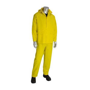 PIN201350L - PIP - 201-350L - Thick Yellow Rainsuit w/ Bib Overalls (L) Product Image
