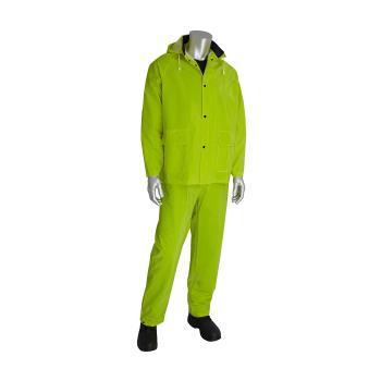 PIN201355X3 - PIP - 201-355X3 - Lime-Yellow Rainsuit w/ Bib Overalls (XXXL) Product Image
