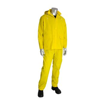 PIN201370X2 - PIP - 201-370X2 - Yellow-Lime Rainsuit w/ Bib Overalls (XXL) Product Image