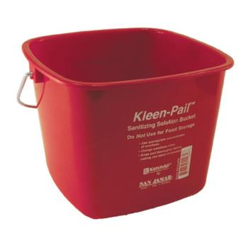 83216 - San Jamar - KP256RD - 8 qt Kleen-Pail® Red Sanitizer Bucket Product Image