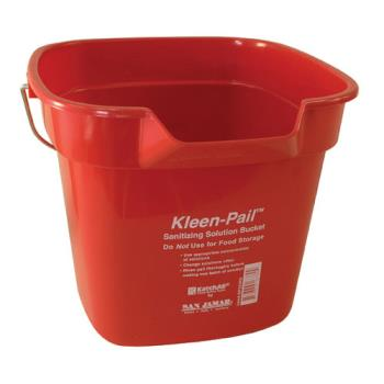 83217 - San Jamar - KP320RD - 10 qt Kleen-Pail® Red Sanitizer Bucket Product Image