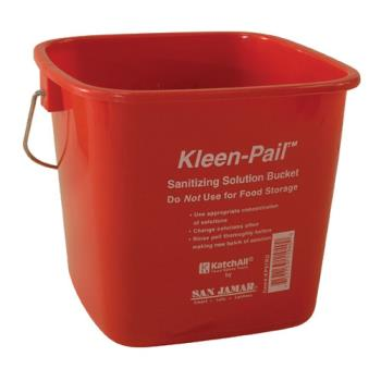 83214 - San Jamar - KP97RD - 3 qt Kleen-Pail® Red Sanitizer Bucket Product Image
