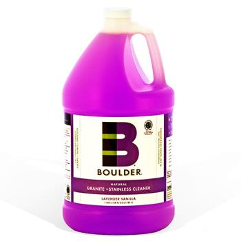 58435 - Boulder Clean - NEW-GRSS-1G-4CS - BOULDER® Vanilla Granite + S/S Cleaner Product Image