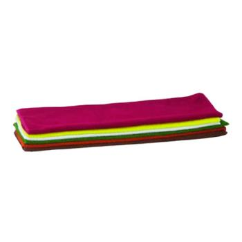 11334 - Winco - BTM-16AC - 16 in x 16 in Microfiber Towel Set Product Image
