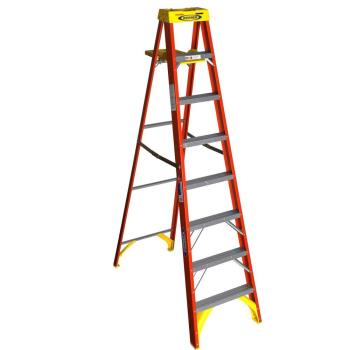 86070 - Werner - 6208S - 8 ft Fiberglass Step Ladder w/ Shelf Product Image