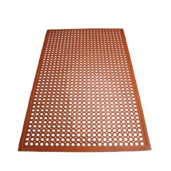 WINRBM35R - Winco - RBM-35R - 3 ft x 5 ft x 1/2 in Red Floor Mat Product Image