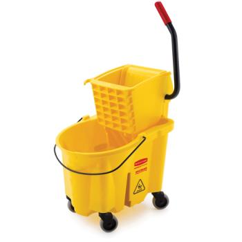 36131 - Rubbermaid - FG758088YEL - 35 qt WaveBrake™ Mop Bucket & Wringer Combo Product Image