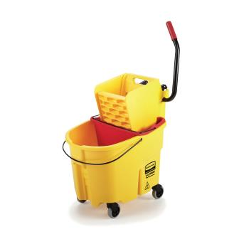 12875 - Rubbermaid - FG758088YEL - 35 qt Yellow WaveBrake® Mop Bucket and Wringer Combo Product Image