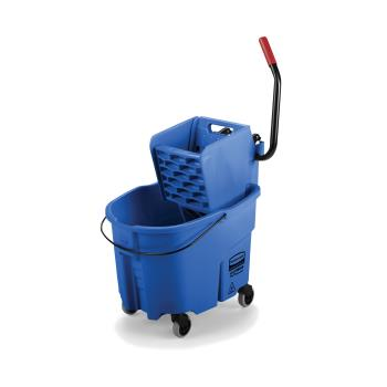 12878 - Rubbermaid - FG758888BLUE - 35 qt Blue WaveBrake® Side Press Mop Bucket and Wringer Combo Product Image