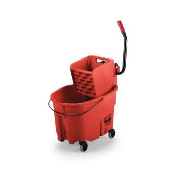 12873 - Rubbermaid - FG758888RED - 35 qt Red WaveBrake® Mop Bucket and Wringer Product Image